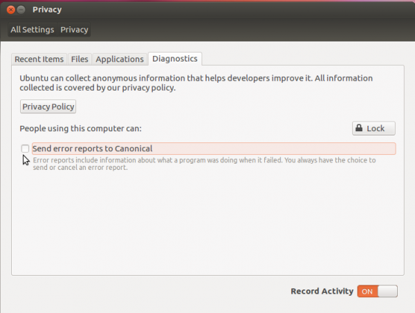 Ubuntu 12.04 Privacy Policy