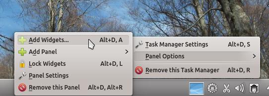 Kubuntu 12.04 KDE Panel Widget