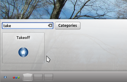 Kubuntu 12.04 Takeoff Launcher Widget 