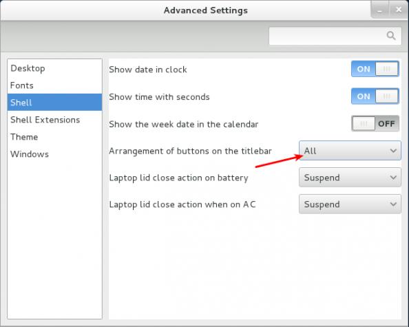GNOME 3 Titlebar Buttons