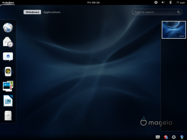 Mageia 2 Default GNOME 3 Activities