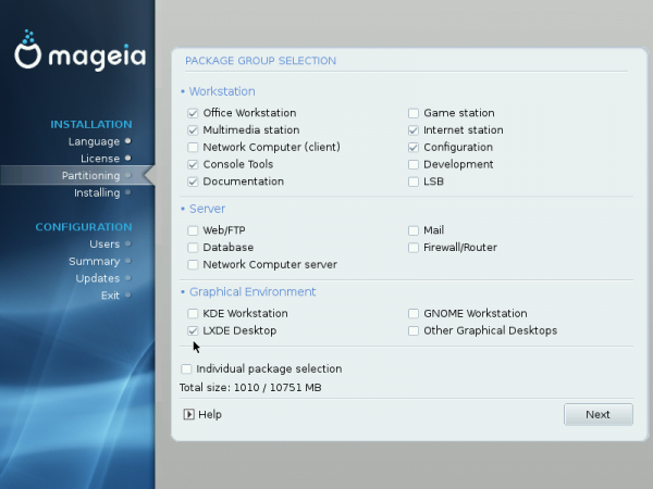 Mageia 2 Desktop Options