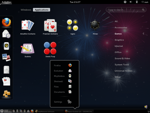 Fedora 17 GNOME Applications