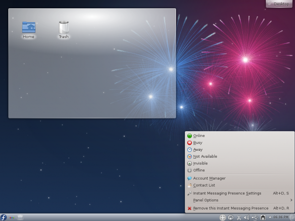 Fedora 17 KDE Online Activity