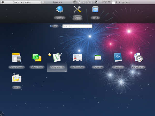 Fedora 17 KDE Plasma Netbook