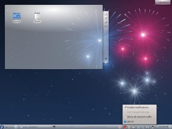 Fedora 17 KDE Firewalld-Applet