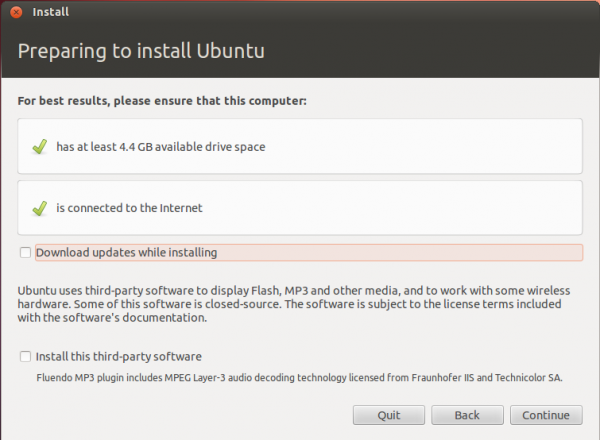 Ubuntu 12.04 Installation Requirements