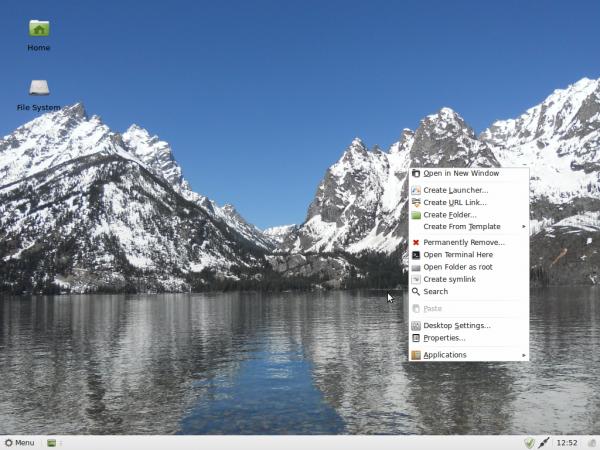 LMDE 201204 Xfce Desktop
