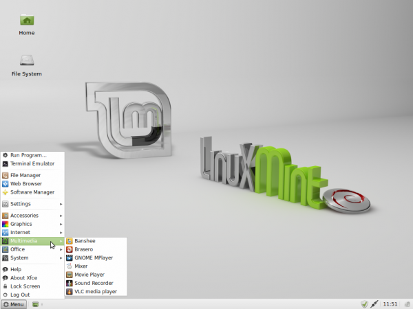LMDE 201204 Xfce Multimedia Apps