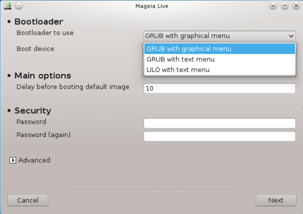 Mageia 2 GRUB Setup