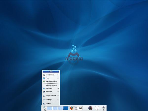 Mageia 2 E17 Desktop Menu