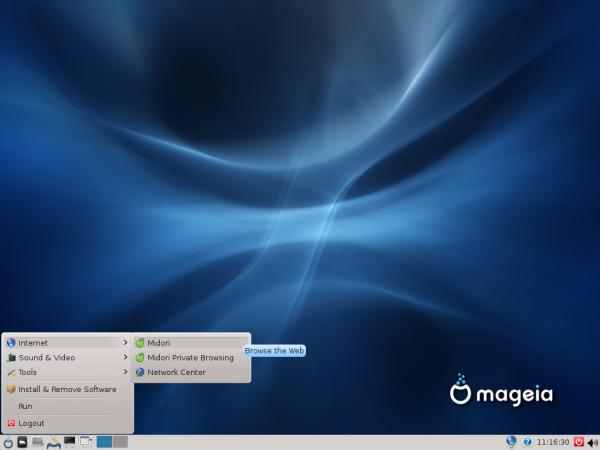 Mageia 2 LXDE Desktop