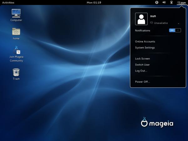 Mageia 2 GNOME 3 Desktop