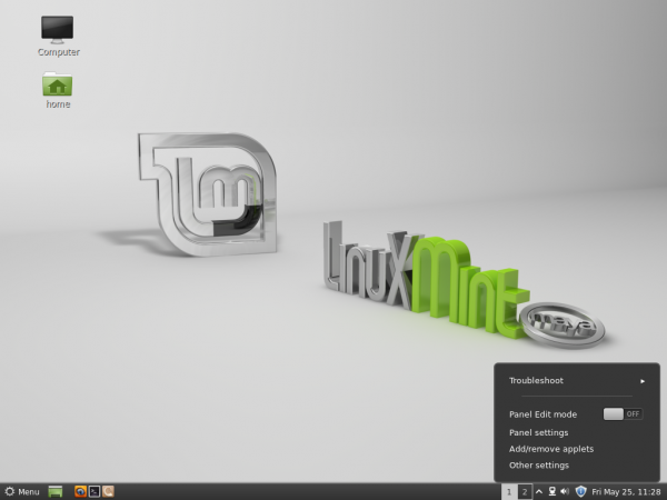 Linux Mint 13 Cinnamon Desktop
