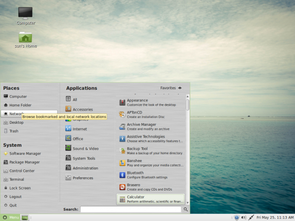 Linux Mint 13 MATE Applications