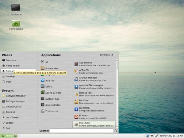 Linux Mint 13 MATE Applications