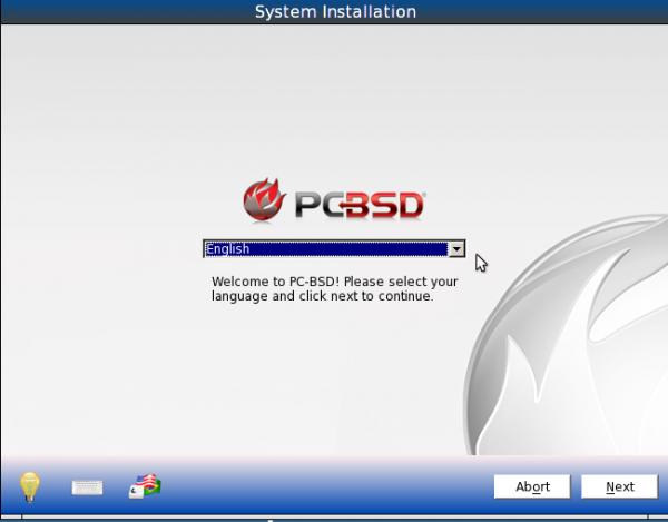 PC-BSD 9.1 installer preview