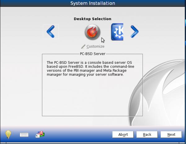 PC-BSD 9.1 Server Installer