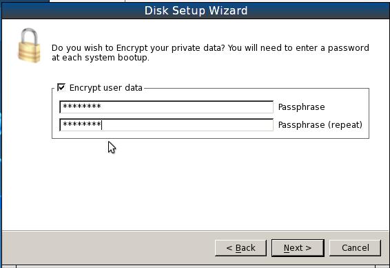 PCBSD 9.1 Install Encryption Passphrase