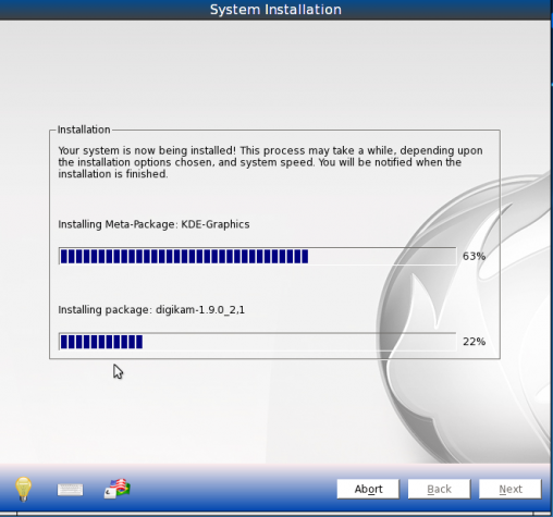 PCBSD 9.1 Install Progress