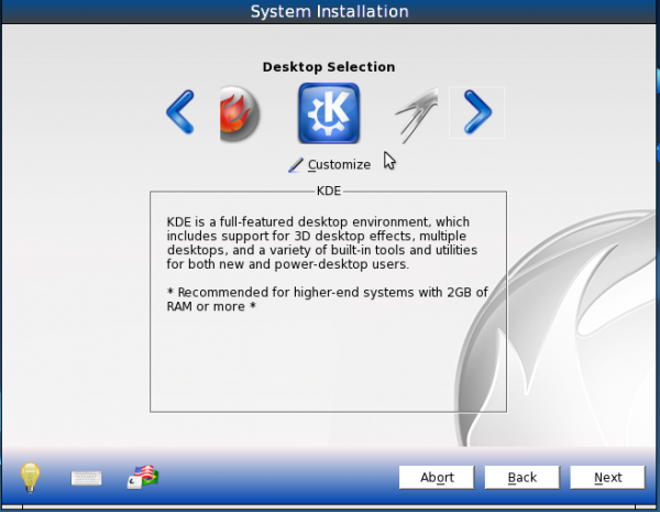 PCBSD 9.1 Install KDE Option