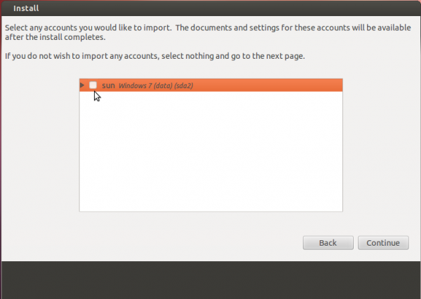 Ubuntu 12.04 Install Import Windows 7 Settings