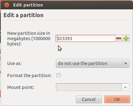 Ubuntu 12.04 Partition Resize