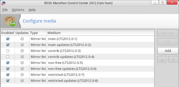 ROSA Marathon 2012 Package Repositories