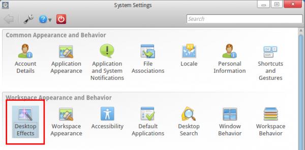 KDE Control Center