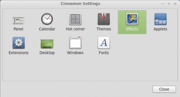 Linux Mint 13 Cinnamon Settings