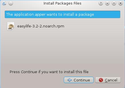 Install EasyLife Fedora 17