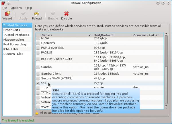 Fedora 17 Firewall