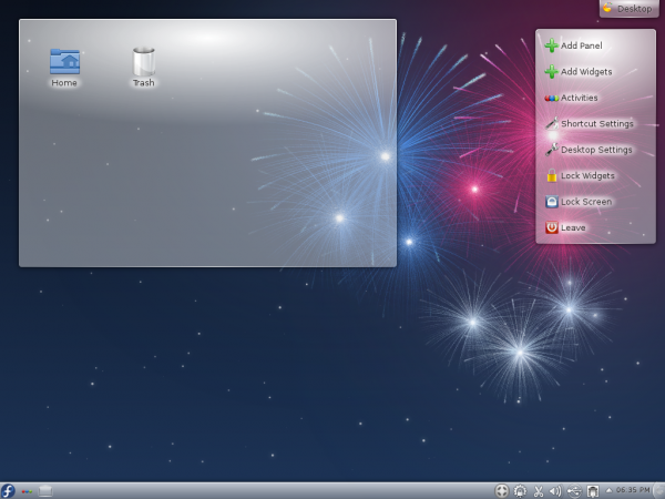 Fedora17 KDE Desktop Widgets