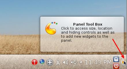 KDE Panel Tool Box