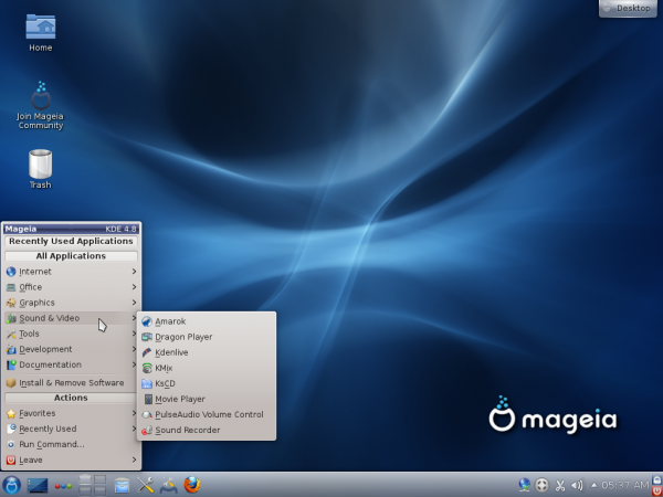 Mageia 2 KDE Desktop Multimedia Apps