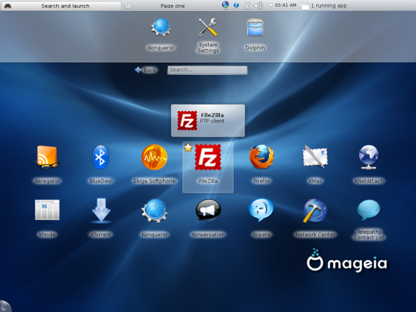 Mageia 2 KDE Netbook Internet Apps