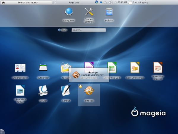Mageia 2 KDE Netbook Office Apps