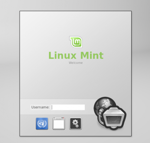 Linux Mint 13 Display Manager