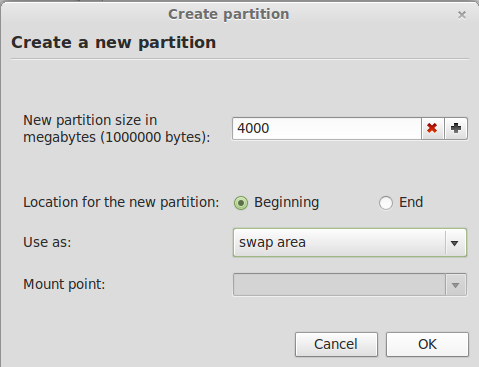 Linux Mint 13 Create Swap Partition