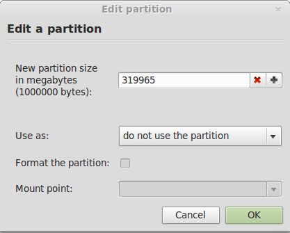 Linux Mint 13 Resize Windows Partition