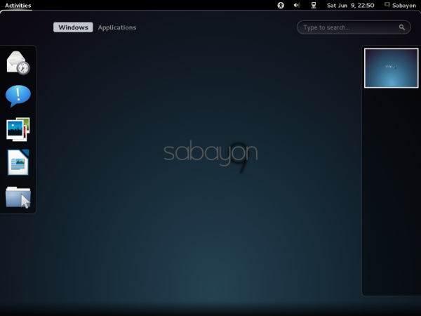 Sabayon 9 GNOME Activities