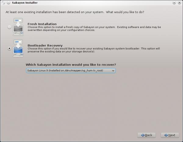 Sabayon 9 Upgrade Install