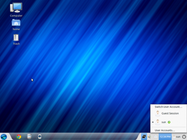 Zorin OS 6 Core Desktop User Widget