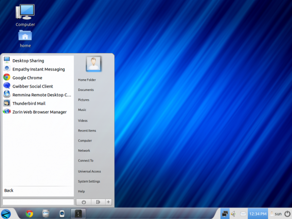 Zorin OS 6 Core Desktop Menu Apps