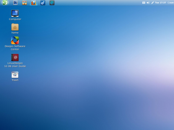 Linux Deepin 12.06 Desktop