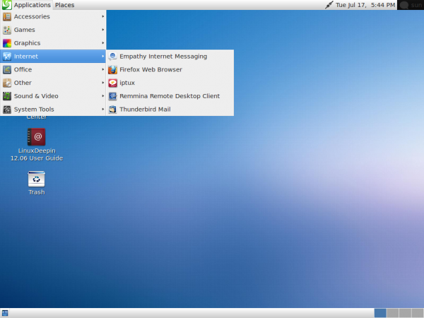 Linux Deepin 12.06 Fallback Mode