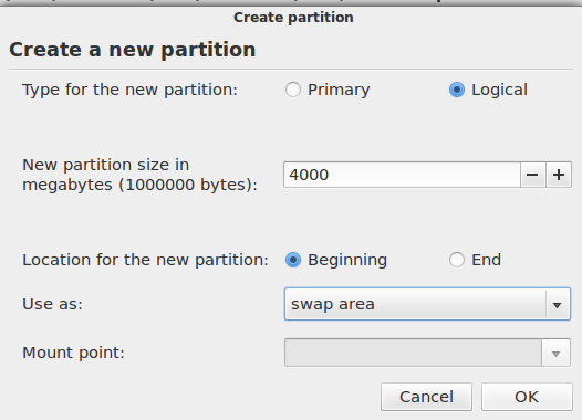 Deepin 12.06 Add Swap Partition