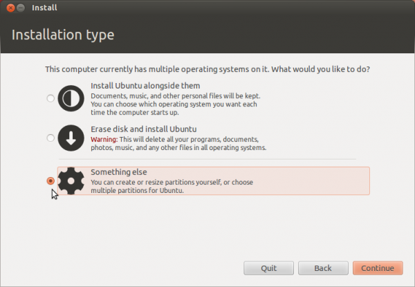 Ubuntu 12.04 Install Partition Methods