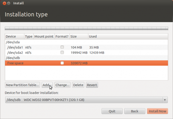 Ubuntu 12.04 Add Partition