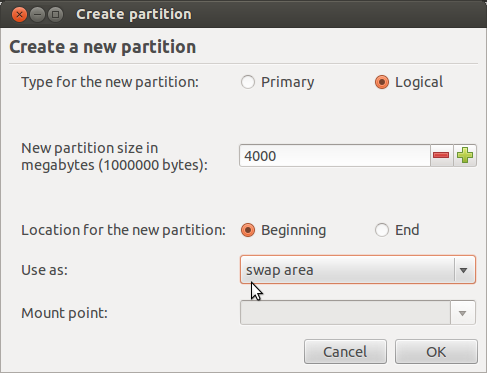 Ubuntu 12.04 Add Swap Partition